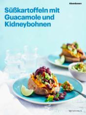 Rezept - Süßkartoffeln mit Guacamole und Kidneybohnen - Vegan Food & Living – 05/2020