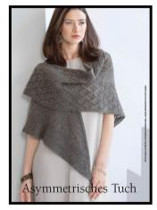 Strickanleitung - Asymmetrisches Tuch - Best of Designer Knitting 01/2021