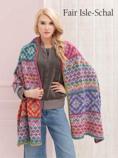 Strickanleitung - Fair Isle-Schal - Best of Designer Knitting 01/2021