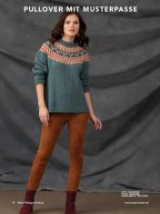 Strickanleitung - Pullover mit Musterpasse - Best of Designer Knitting 01/2021