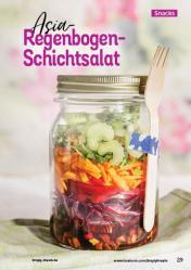 Rezept - Asia-Regenbogen-Schichtsalat - Simply Kochen Kompakt Low Carb 01/2021