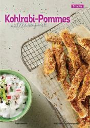 Rezept - Kohlrabi-Pommes mit Kräuterquark - Simply Kochen Kompakt Low Carb 01/2021