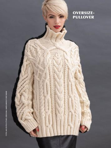 Strickanleitung - Oversize-Pullover - Best of Designer Knitting 02/2021