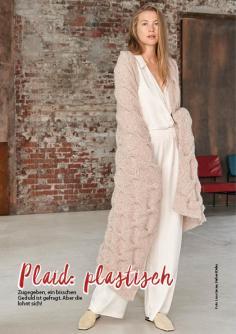 Strickanleitung - Plaid: plastisch - Simply Stricken Special Lana Grossa Beileger 01/2020