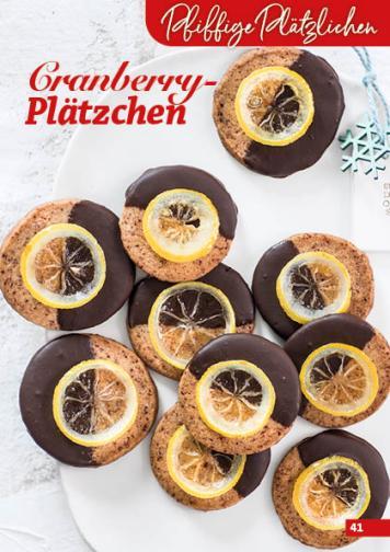 Rezept - Cranberry-Plätzchen - Simply Backen Kekse 04/2020