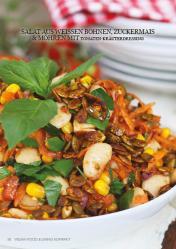 Rezept - Salat aus weißen Bohnen, Zuckermais & Möhren - Vegan Food & Living Kompakt – 01/2021