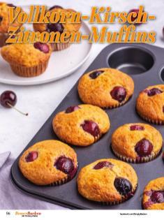 Rezept - Vollkorn-Kirsch-Zitronen-Muffins - Best of Besser Backen mit Tommy Weinz – 02/2021
