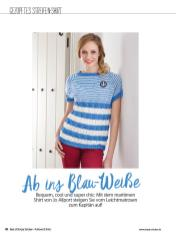 Strickanleitung - Ab ins Blau-Weiße - Simply Stricken Sonderheft Best of Pullover & Shirts 02/2020