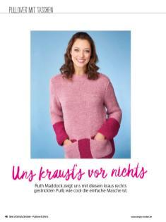 Strickanleitung - Uns kraust's vor nichts - Simply Stricken Sonderheft Best of Pullover & Shirts 02/2020