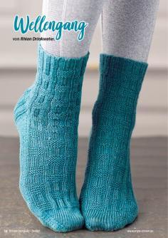 Strickanleitung - Wellengang - Simply Stricken Kompakt Sonderheft Socken 02/2021