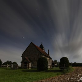 idsworth church by moon light