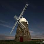 Halnaker Windmill Moon lit