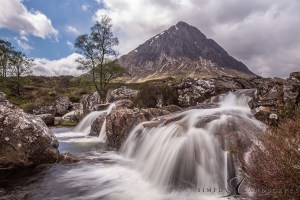 buachaille etive mor waterfalls