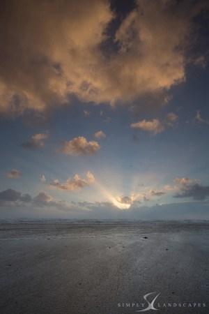 Bracklesham winter sunset