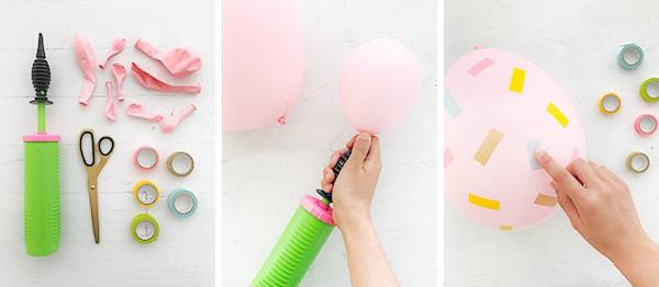 Washi Tape Easter Egg Balloons