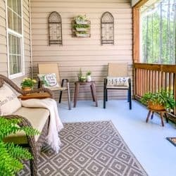 summer porch refresh