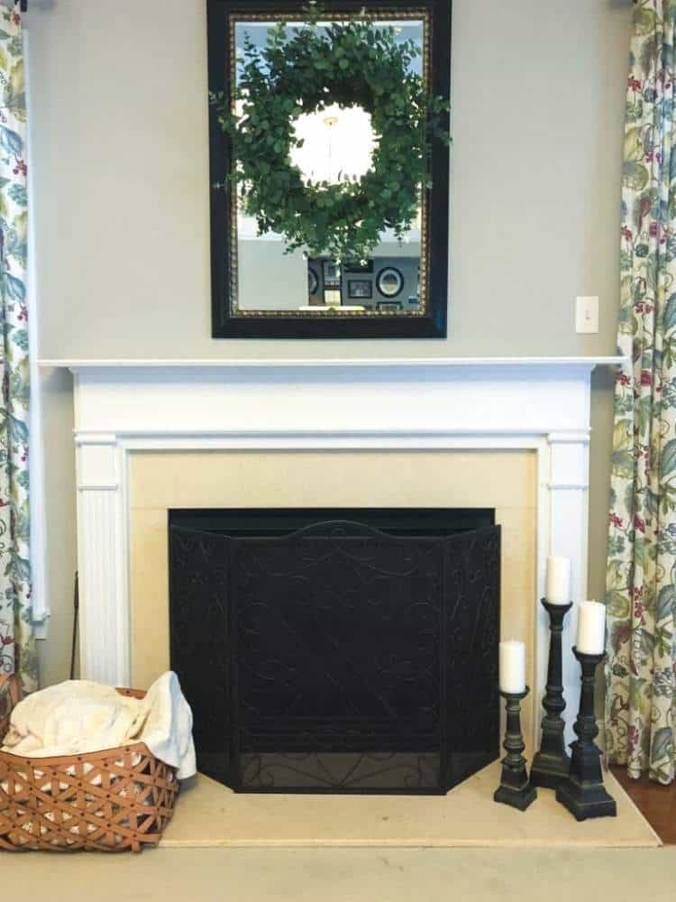 to paint a marble fireplace surround