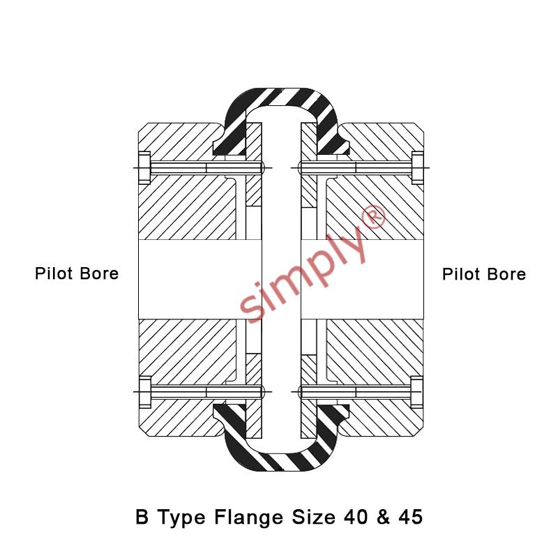 Dunlop Dunflex F40B/F40B Pilot Bored Tyre Drive Coupling