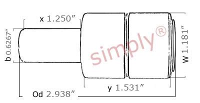 885152 Short Stem Cultivator Pump Bearing Simply Bearings Ltd