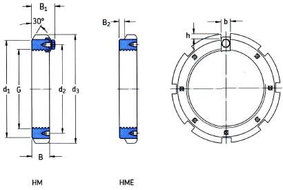 SKF HM3052 Lock Nut (Locking Clip Type) M260x4mm Simply