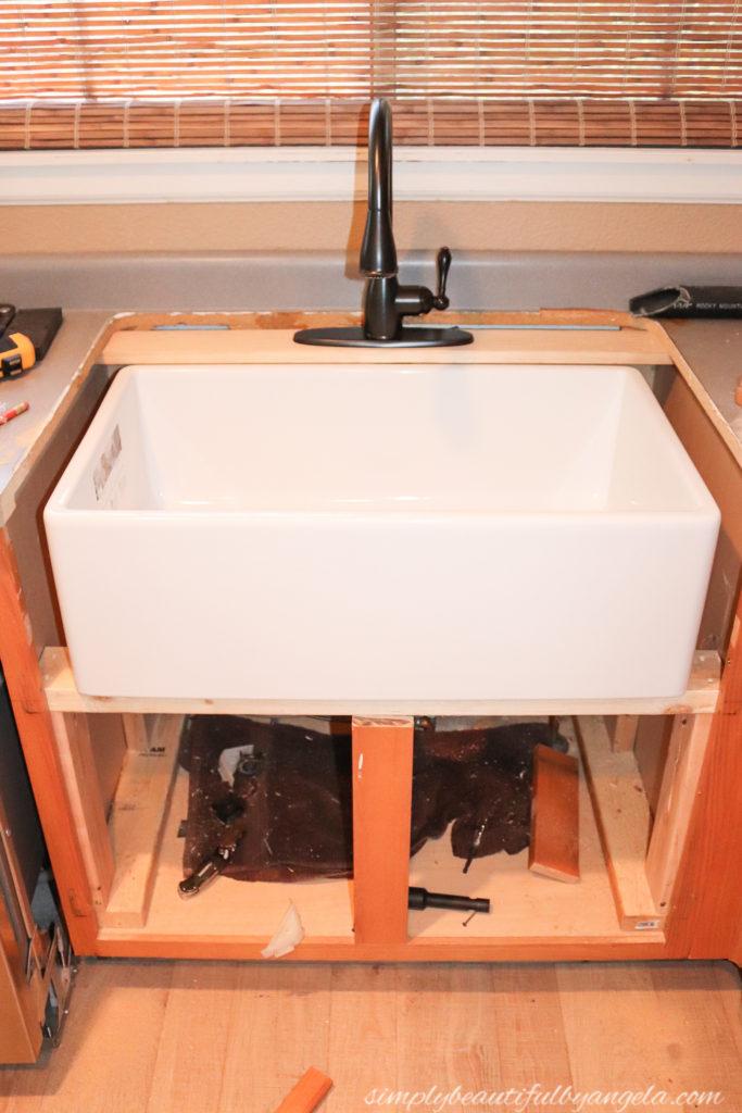 Diy Farmhouse Sink Installation Simply Beautiful By Angela