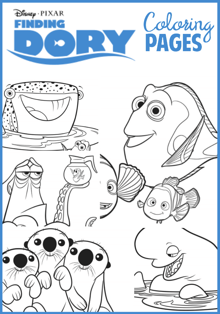 Dory Coloring Pages : coloring, pages, Finding, Coloring, Pages, Simply, Being, Mommy