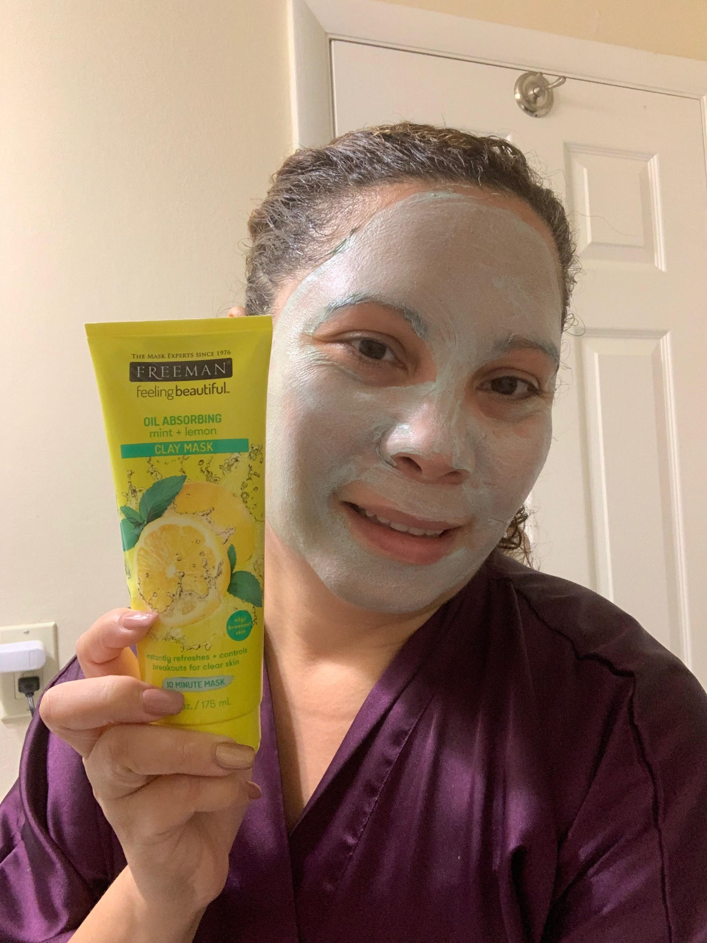 Freeman Oil Absorbing Mint & Lemon Clay Mask