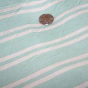 Rayon Spandex Mint Ivory Stripe