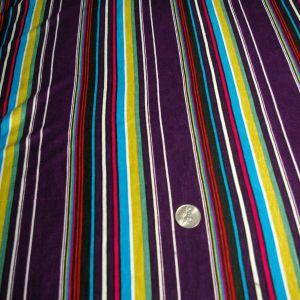 purple Mustard Black turquoise fuchsia stripe rayon spandex