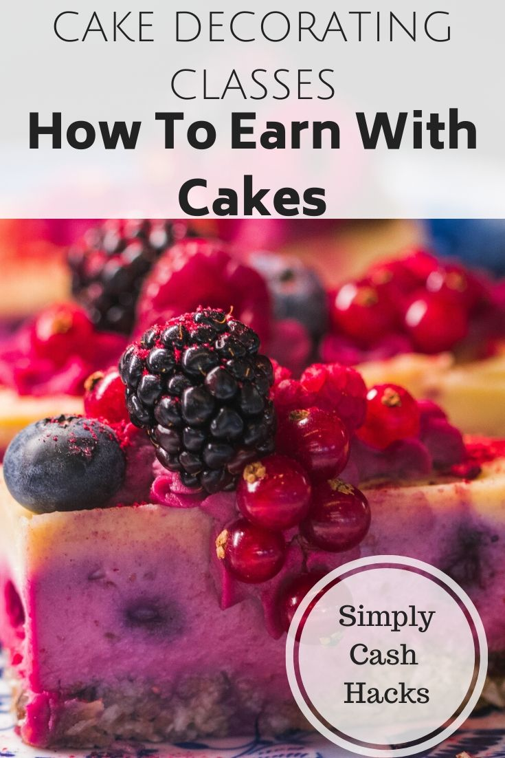 cake decorating classes: how to earn with cakes