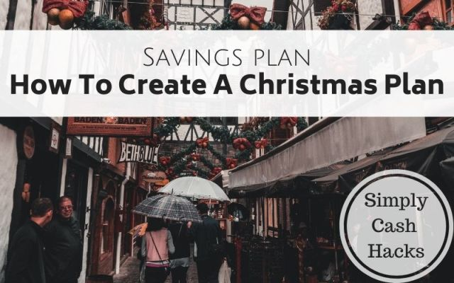 savings plan: how to create a christmas plan