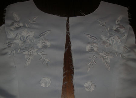 """The embroidery on the back needed """"repaired"""""""