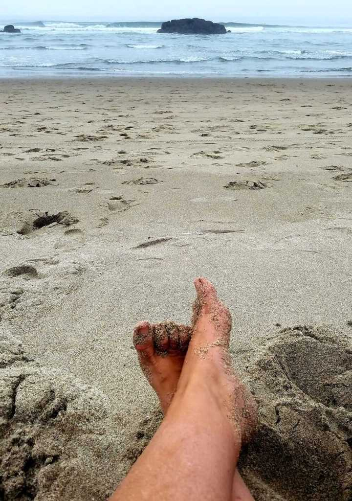 Toes in sand, painful and needing CBD to help with pain