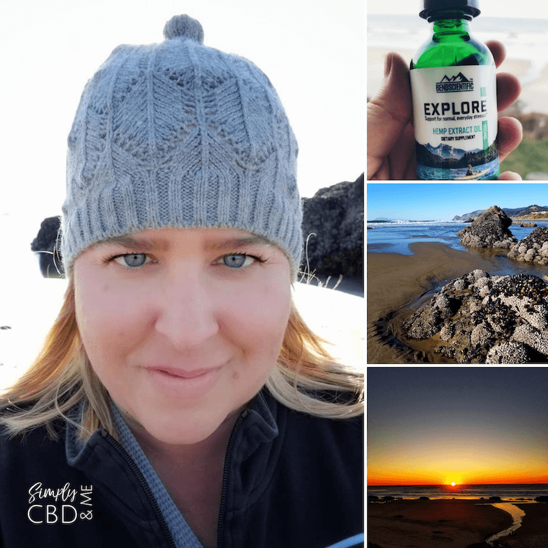 Walking on the beach is no longer uncomfortable because I take CBD oil for pain
