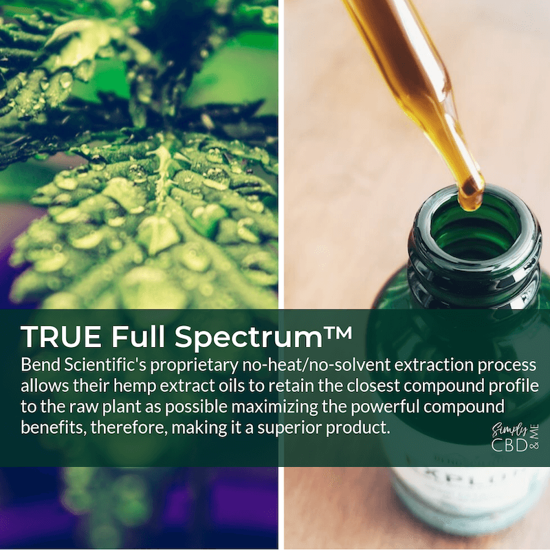 TRUE Full Spectrum™ proprietary hemp oil extraction method makes Bend Scientific's oil a superior product