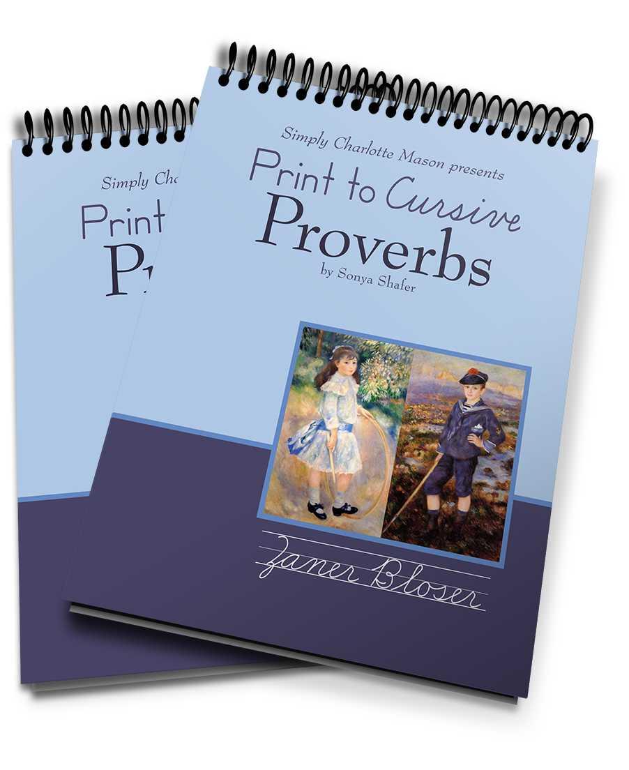hight resolution of Print to Cursive Proverbs — Simply Charlotte Mason