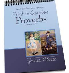 Print to Cursive Proverbs — Simply Charlotte Mason [ 1104 x 902 Pixel ]