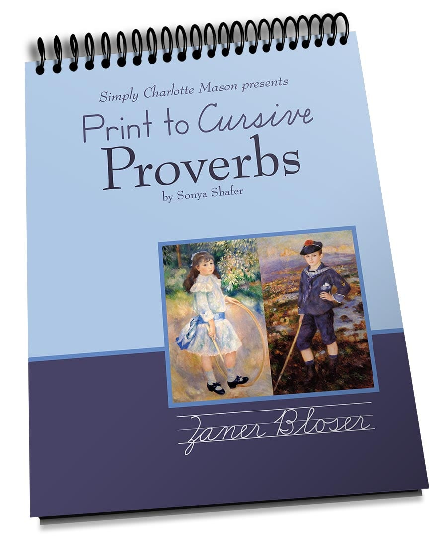 medium resolution of Print to Cursive Proverbs — Simply Charlotte Mason
