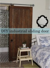 DIY industrial sliding door