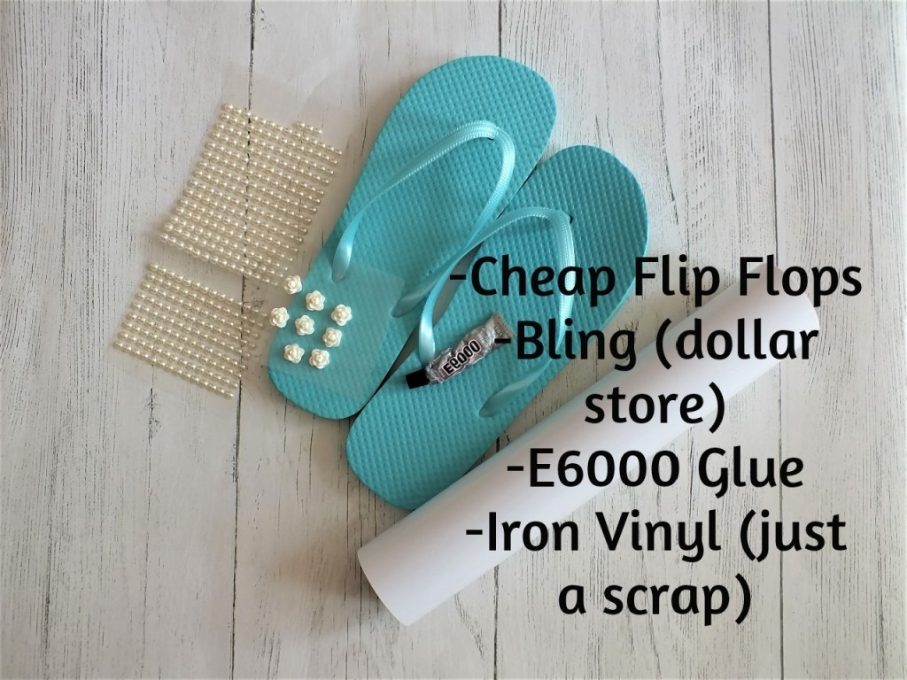materials for flip flop refashion