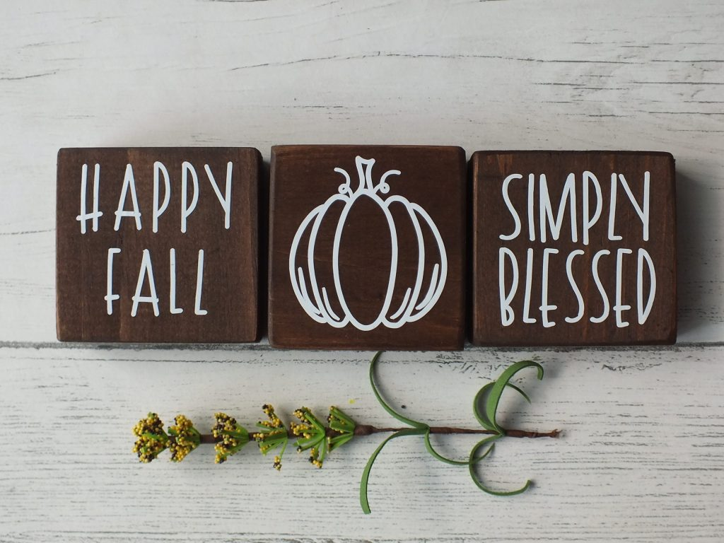 Wood Blocks for Fall