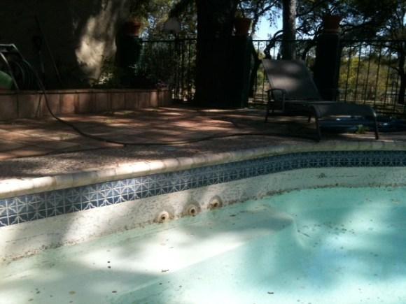 Pool level falling