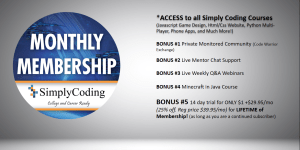 Simply Coding Monthly Membership