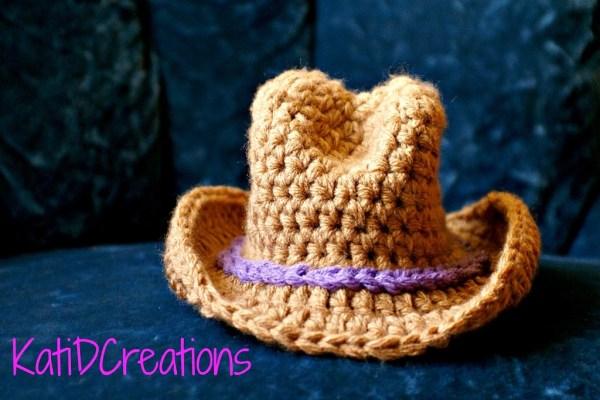 cowboy hat crochet sombrero vaquero pattern # 16