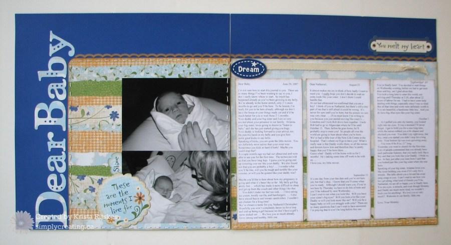 Dear Baby layout