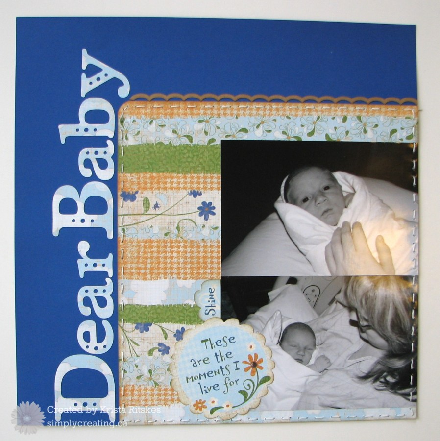 Dear Baby layout left
