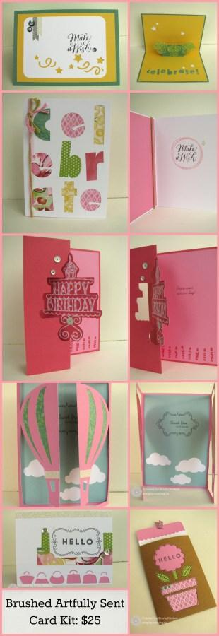 Brushed Artfully Sent cards