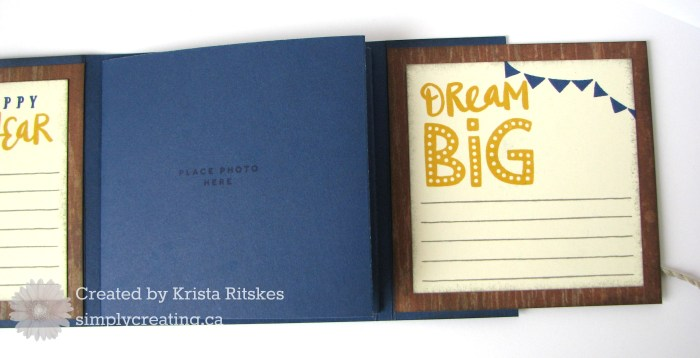nov sotm mini album by Krista Ritskes, back