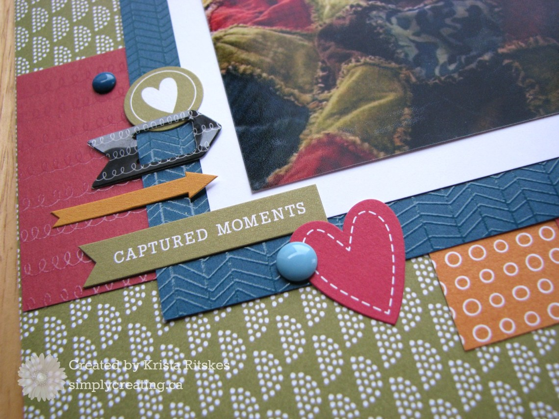 Sweet Goodnight Kisses Layout by Krista Ritskes close up 2