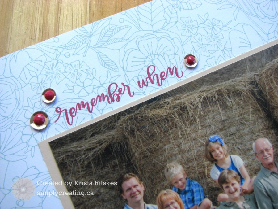 Happy Times Layout title by Krista Ritskes #simplycreating